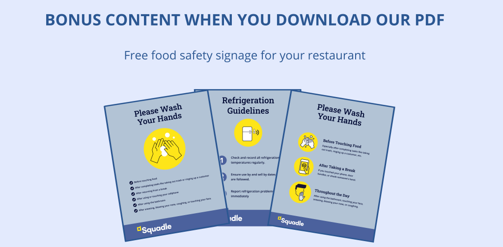 free food safety posters for restaurants